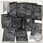 Chalkboard Cheer Art Bundle- perfect for Valentine's Day Decor