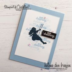 Helene den Breejen: Stampin' Up! Kids Silhouette, Swing Card, Stampin Up Catalog, Marianne Design, Tampons, Funny Cards, Stamping Up, Kids Cards, Greeting Cards Handmade