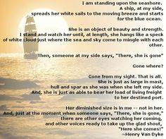 Gone From My Sight ~ Henry Van Dyke