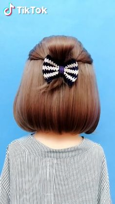 TikTok: watch funny short videos, Hair and beauty Little Girl Hairstyles, Unique Hairstyles, Pretty Hairstyles, Fashion Hairstyles, Hairstyles For Short Hair Easy, Funny Short Videos, Pinterest Hair, Hair Videos, Hair Inspiration