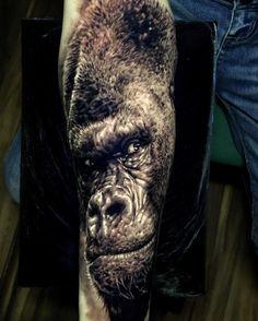 Gorilla Tattoo By Ash Higham