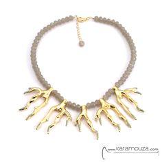.shop online: http://karamouza.com/el/kolie/angelo-bearreta-gold-sea-coral-necklace-kolie-konto-xantra-iridizousa-xrysa-coralia.html#.U57Exv225uY