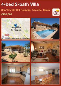 4-bed 2-bath Villa in San Vicente Del Raspeig, Alicante, Spain ►€450,000 #PropertyForSaleInSpain