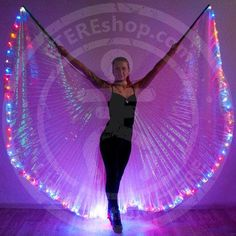 LED Bellydance wings Outline 100 LEDs MIX color