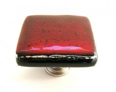 Red Kitchen Knobs - Red Bathroom Knobs - Red Cabinet Hardware | UneekGlassFusions - Furniture on ArtFire