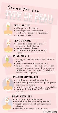 Face beauty advice - The first beauty tip for perfect skin is to know what our skin type is! You can then easily choose - Beauty Advice, Health And Beauty Tips, Beauty Care, Diy Beauty, Beauty Skin, Beauty Hacks, Make Up Gesicht, Homemade Body Care, Beauty Over 40