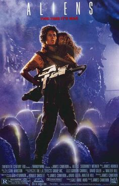 """A great Aliens movie poster! Sigourney Weaver returns as """"Lt Ripley"""" in James…"""