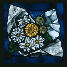 Flowers in a Newspaper - Deborah Lowe Stained Glass Project from Tatra Glass | UK