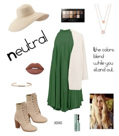 """""""neutralize the threat"""" by robertsonkatrien ❤ liked on Polyvore featuring Taylor, Timberland, American Vintage, Eric Javits, Michael Kors, Maybelline, Too Faced Cosmetics, Lime Crime, MantraBand and beautiful"""