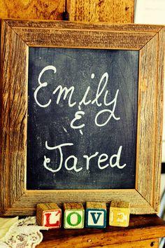 Chalkboard Vintage Country Wedding- Lace & Brass Events, LLC Bayfield, Wisconsin #bayfieldwedding #emilyanndayofweddingcoordinator