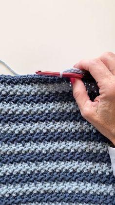 Crochet Stitches For Blankets, Crochet Stitches Free, Crochet Stitches For Beginners, Crochet Videos, Crochet Baby Blanket Free Pattern, Baby Afghan Crochet, Afghan Crochet Patterns, Puff Stitch Crochet, Crochet Diy
