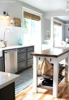 French doors to side of sink
