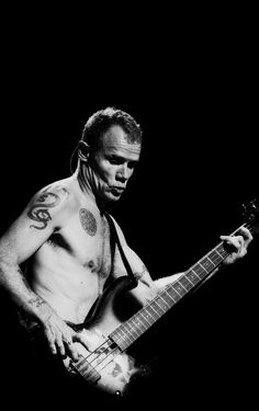 Flea of Red Hot Chili Peppers / Black & White Photography