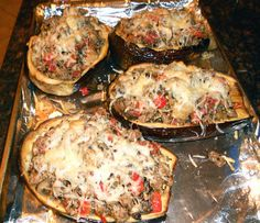 Stuffed Eggplant - Healthy recipe full of nutrition and flavor!