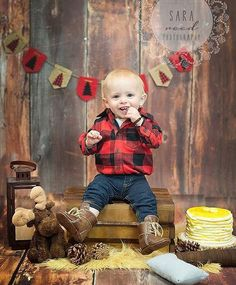 Happy *soon* birthday to one of my favourite Instagram kiddos, and our BE, Emmett!   This is quite possibly the best photoshoot setup I've seen yet! What a handsome little lumberjack.