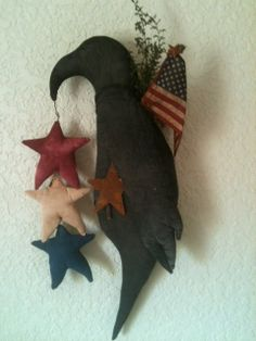 Made to Order Primitive Inspired Black Crow by VintageHare on Etsy