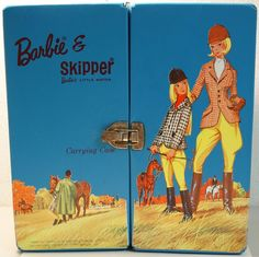 Barbie And Skipper Riding In The Park Carrying Case 1960's