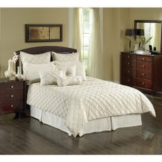 Chelsea Frank Oasis Linen - 10 Piece Comforter Set Material - Cotton by Chelsea Frank. $265.98. Filled with 100% polyester. Made from cotton/polyester blend. Dry clean only. Made from cotton/polyester blend. Filled with 100% polyester. Dry clean only.