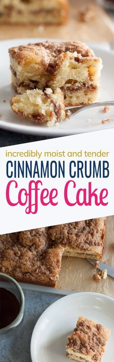 What I love most about this cake is its combination of textures. The cake is so soft and tender with a hint of cinnamon layer and a crumbly cinnamon topping. My husband likes to pair it with coffee while tea for me!