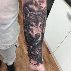 wolf+and+woods+tattoo.jpg (640×640)