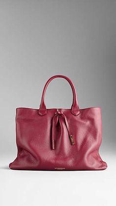 Bow Detail Deerskin Tote Bag
