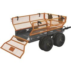 This handy Bannon Utility Trailer features a large x steel bed to haul loads up to lbs. Atv Dump Trailer, Quad Trailer, Utility Trailers For Sale, Small Cooler, Loading Ramps, Decking Material, Deck Construction, Steel Bed, Simple Bed
