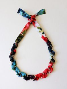 Tie Dye Ribbon Necklace - NolaBella Jewelry