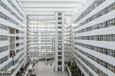 The Hague City Hall. The architect of the city hall in The Hague is Richard Meier (US). The building has been featured in the movie Ocean's Twelve as the Europol Headquarter