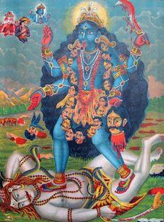 Kali (aspecto violento de la diosa madre).