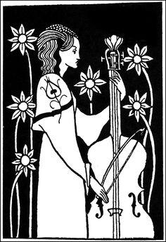 "Art by Aubrey Beardsley (1893) - ""Morte D'Arthur."""