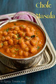 Spicy Treats: Channa Masala   Badami Channa Masala   Easy Chole Recipe   Chickpeas In Almond Onion Tomato Gravy