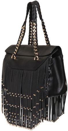 c6a14bd9ebc Love this  Regina Studded Fringe Nappa Leather Bag  Lyst Fringe Purse