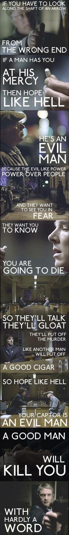 Evil Man vs. Good Man #Sherlock