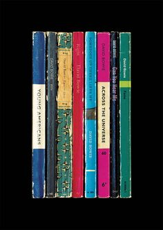 david bowie 'young americans' album as books print by lime lace | notonthehighstreet.com