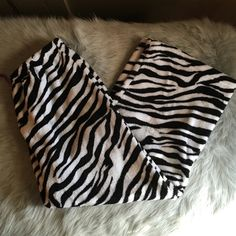 Zebra flannel pjs pants Zebra pj pants- size xl Intimates & Sleepwear Pajamas