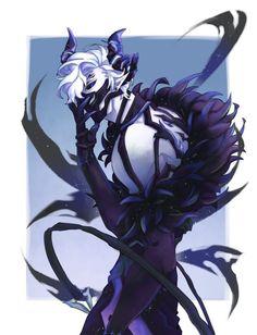 Anime Boy Demon, Demon Manga, Anime Devil, Dark Anime Guys, Hot Anime Boy, Cute Anime Guys, Anime Fantasy, Dark Fantasy Art, Fantasy Character Design