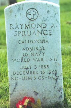Raymond Spruance (1886 - 1969) US admiral, important commander in the Pacific theater during World War II, had a key role in the Battle of Midway