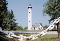 The tallest lighthouse on Lake Huron is a red-capped beauty from 1870