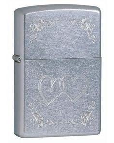 Lighters - Zippo Heart to Heart Street Chrome Lighter - Oxemize.com