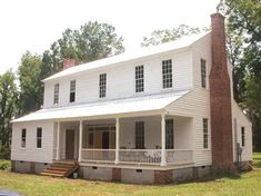 "Moss Hill near Pine Apple, Wilcox County, Alabama is a modest house that overlooks Seale Plantation. It was built in 1845 and is still in perfect condition, with its classic Southern-style white woodwork. It's what's known as an ""I-style"" house, with a long porch across the front."