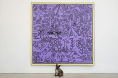 """Are those monsters? Keith Haring """"Untitled (May 29, 1984),"""" 1984 in Heaven & Hell at Skarstedt Gallery. March 05 - April 18, 2015"""