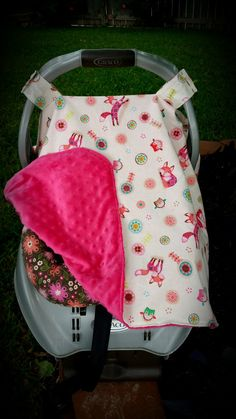Girly Fox Carseat Canopy Pink Fox Carseat Tent by ShaysStore & Ready to Ship Owl Carseat Canopy Boy Car Seat Canopy Blue Owl ...