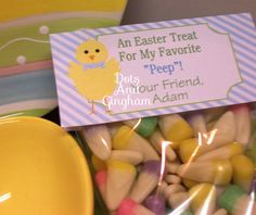 Easter Treat Bag TopperEaster Chick Boy Treat by DotsAndGingham, $8.00