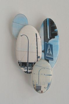 BSP221 BETTINA SPECKNER (brooch), 2013. Photo in enamel, silver, 4 1/2 x 2 3/4 x 1/2 inches