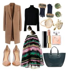 Winter dates are warm by pulseofthematter on Polyvore featuring polyvore fashion style Nehera Valentino Gianvito Rossi Victoria Beckham Ginette NY Anne Sisteron Cartier UGG Chloé Chanel clothing