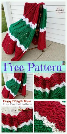 8 Crochet Christmas Blankets - Free Patterns - Quick, Easy, Cheap and Free DIY Crafts Christmas Crochet Blanket, Crochet Christmas Gifts, Christmas Knitting Patterns, Holiday Crochet, Crochet Christmas Stocking Pattern, Christmas Crafts, Crochet Afghans, Crochet Stitches Patterns, Knitting Patterns Free