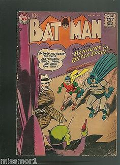 Batman #comic 117 vg- silver age #1950's-60's jet #skates cover,  View more on the LINK: 	http://www.zeppy.io/product/gb/2/221139914325/