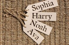 50 Personalised Name Tags / Place Cards for Weddings