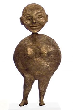 Bronze Stylized People sculpture by artist Isabelle Biquet titled: 'the Womoon (la femme lune)' £430 #sculpture #art