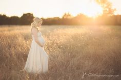 Maternity Maxi Dress - gorgeous setting with beautiful golden tones of sunset.
